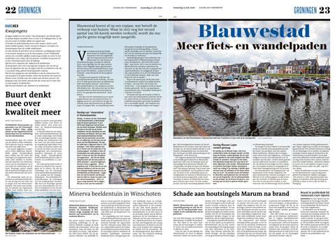 Artikel in het Dagblad van het Noorden